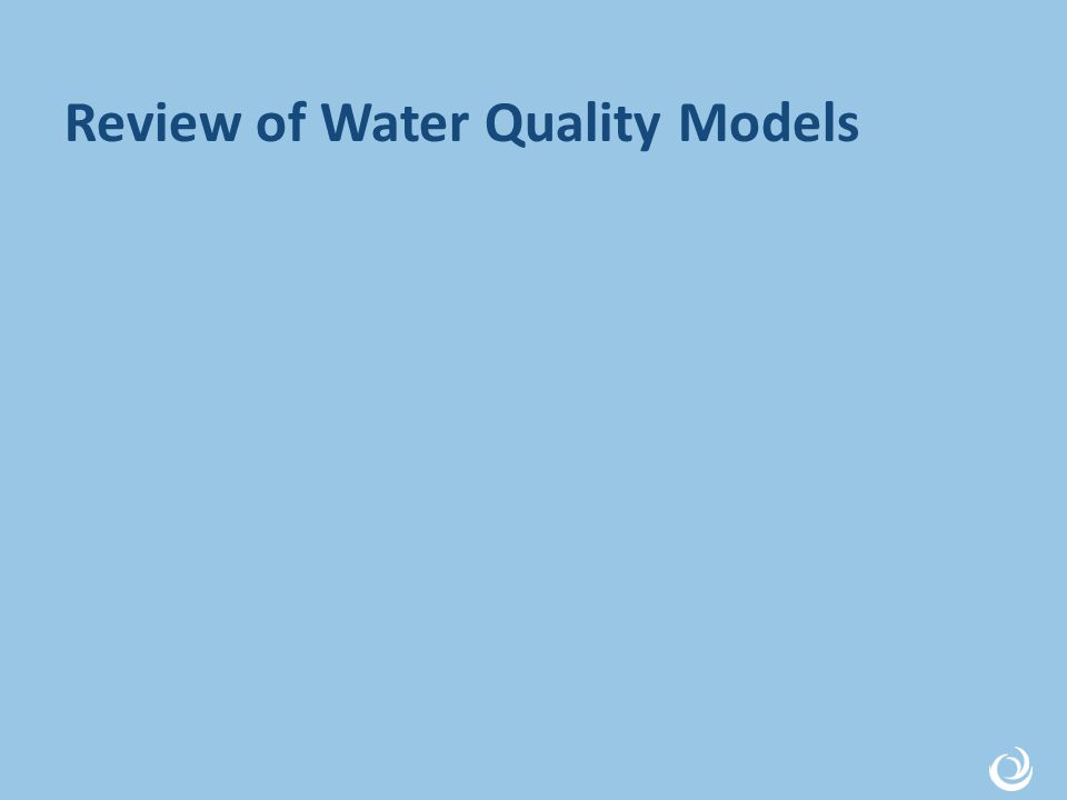 Review of Water Quality Models