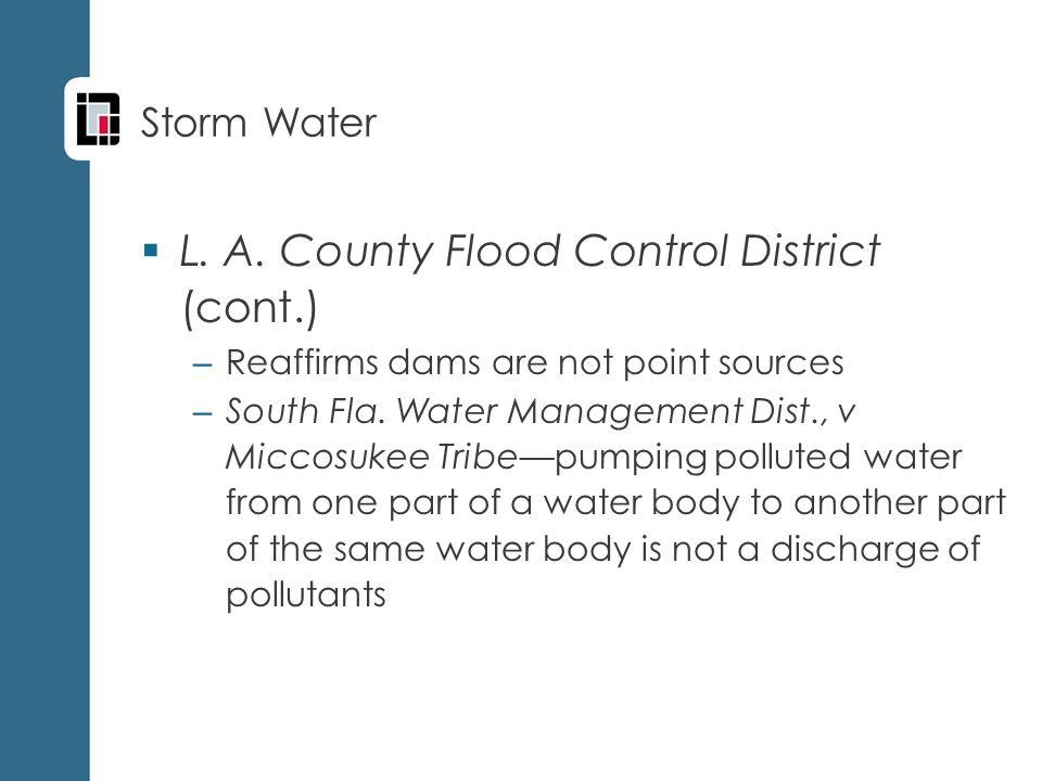 Storm Water  L. A.