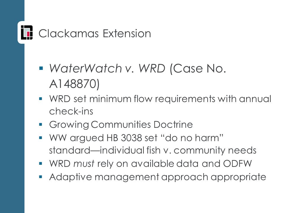  WaterWatch v. WRD (Case No.