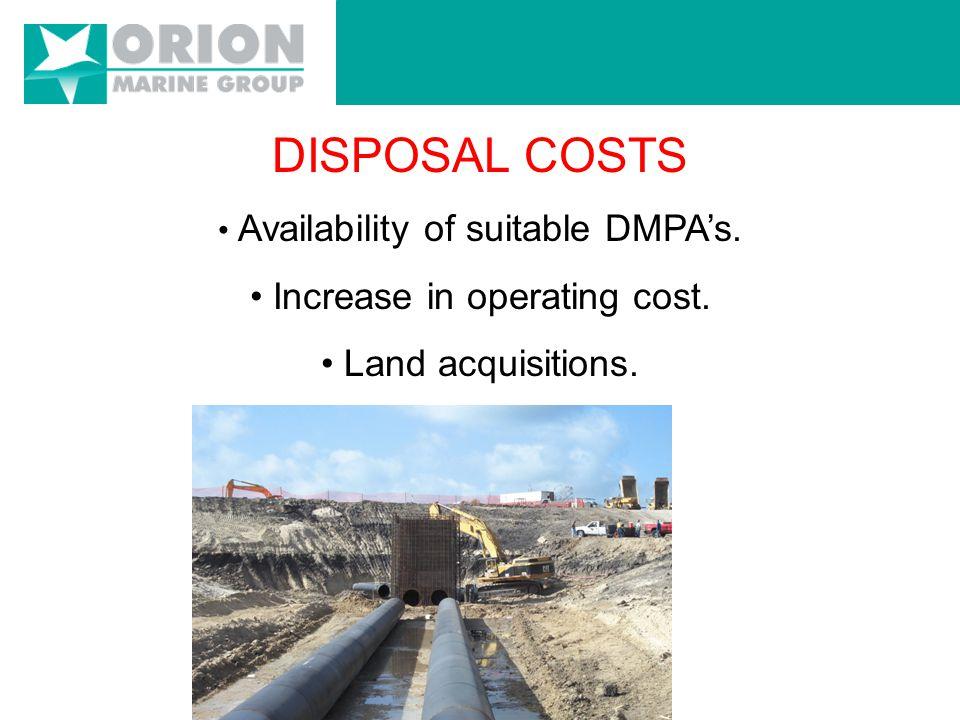 DISPOSAL COSTS (per cu/yd.)
