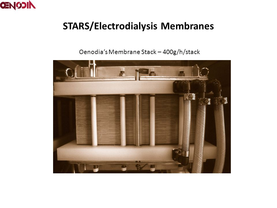 STARS/Electrodialysis Membranes Oenodia's Membrane Stack – 400g/h/stack