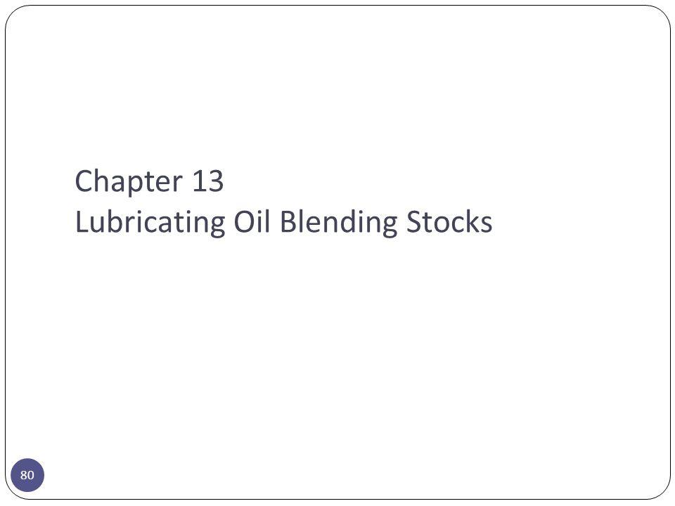 Chapter 13 Lubricating Oil Blending Stocks 80