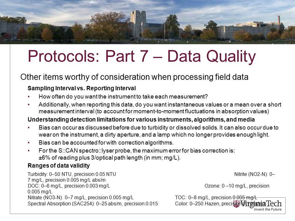 Protocols: Part 7 – Data Quality Sampling Interval vs.