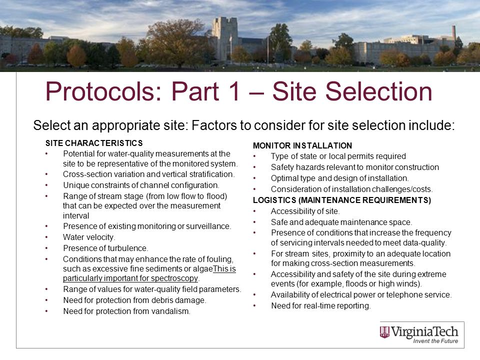 Protocols: Part 2 – Instrument Choice S::can instruments have many probes.