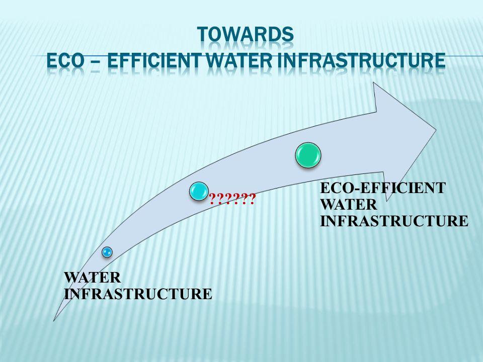 WATER INFRASTRUCTURE ECO-EFFICIENT WATER INFRASTRUCTURE