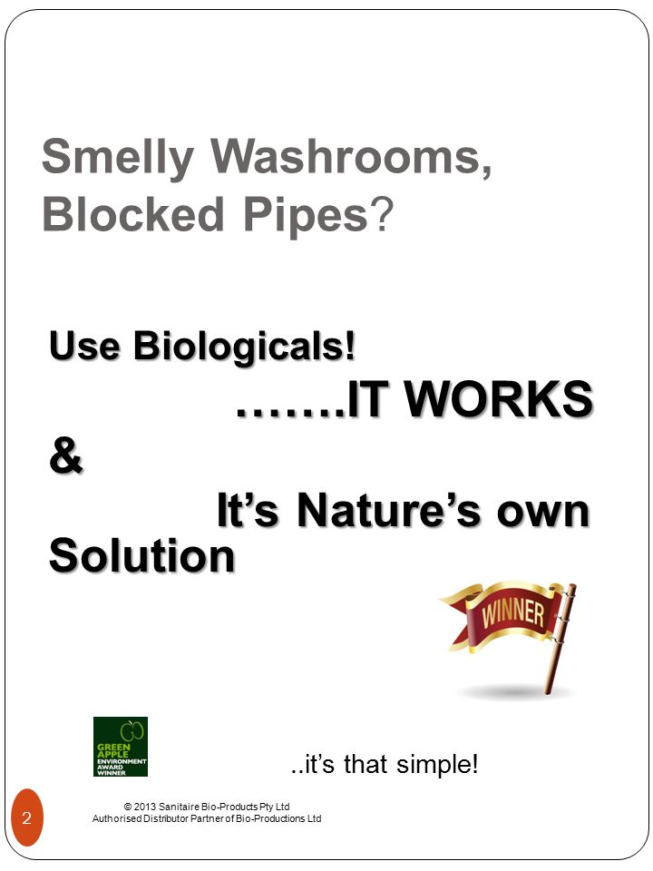 Smelly Washrooms, Blocked Pipes.