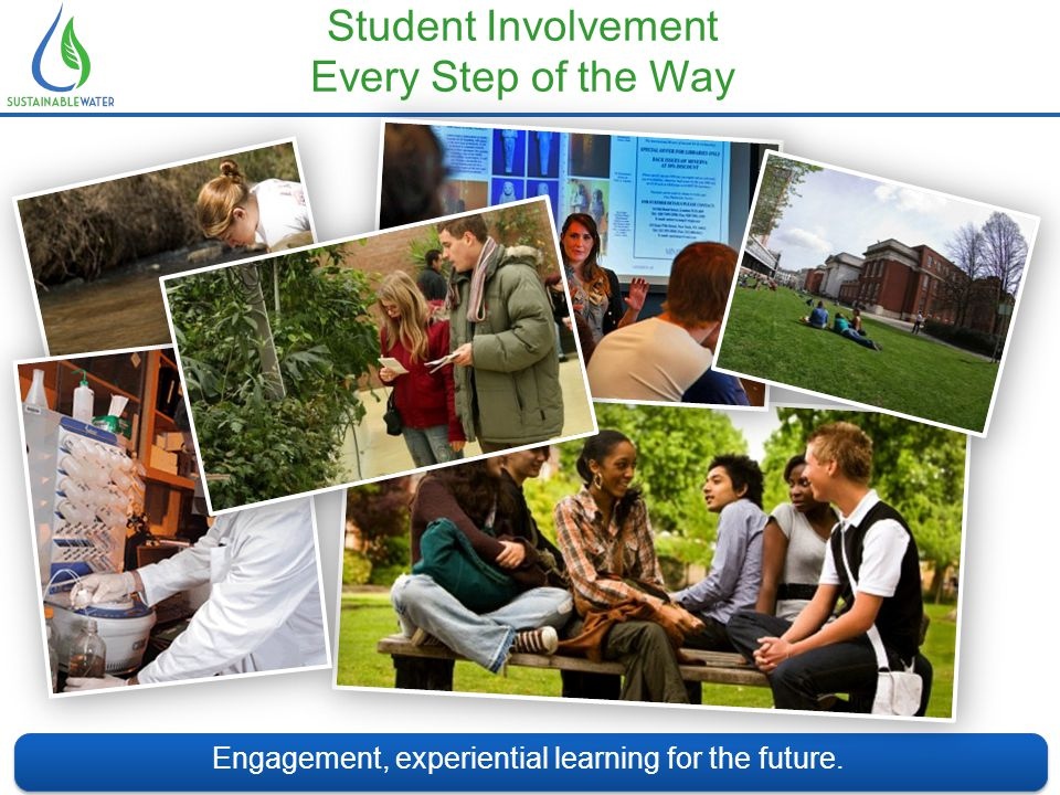 Student Involvement Every Step of the Way Engagement, experiential learning for the future.