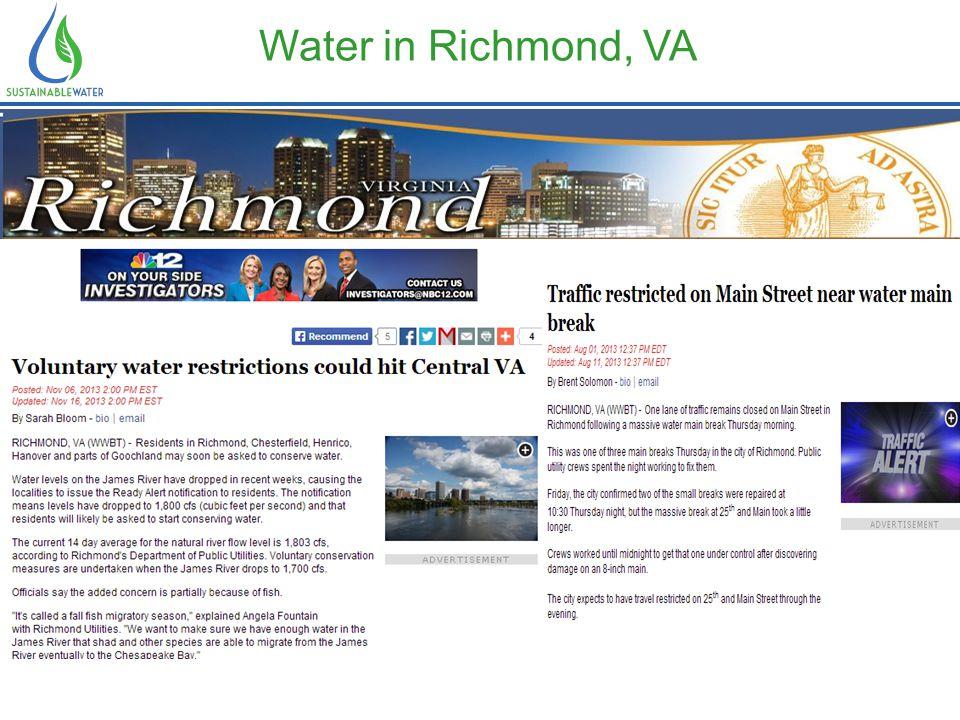 Water in Richmond, VA Water is the lifeblood of metro Atlanta.