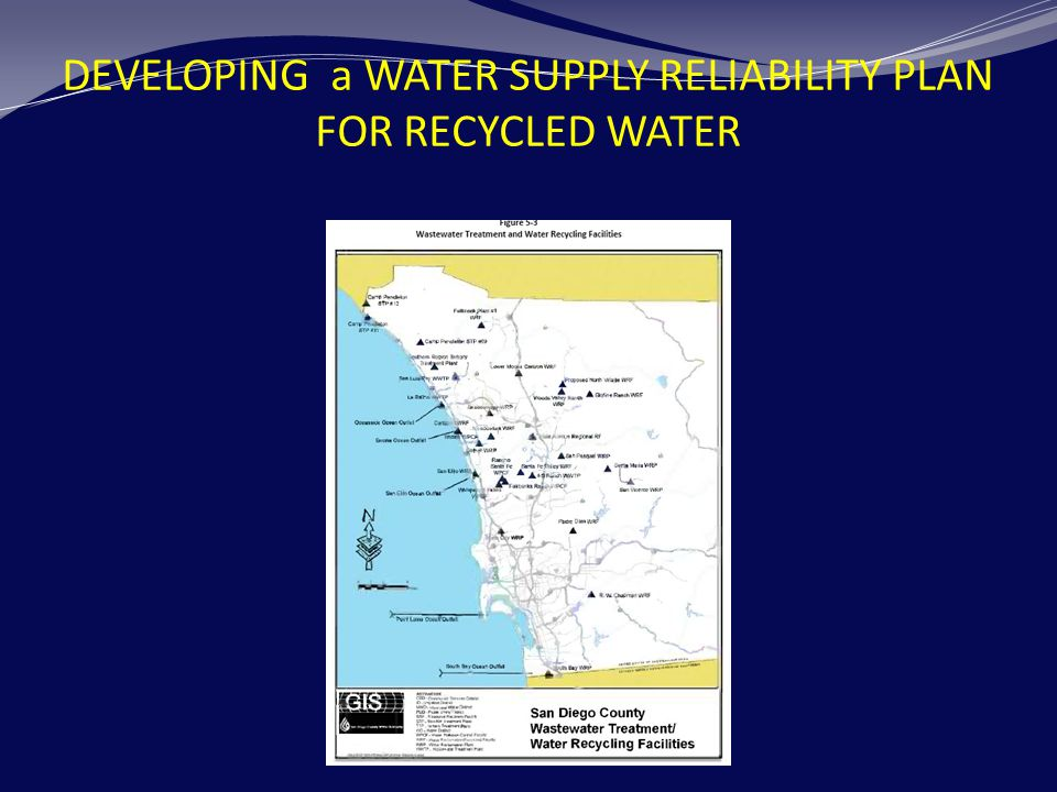 DEVELOPING a WATER SUPPLY RELIABILITY PLAN FOR RECYCLED WATER