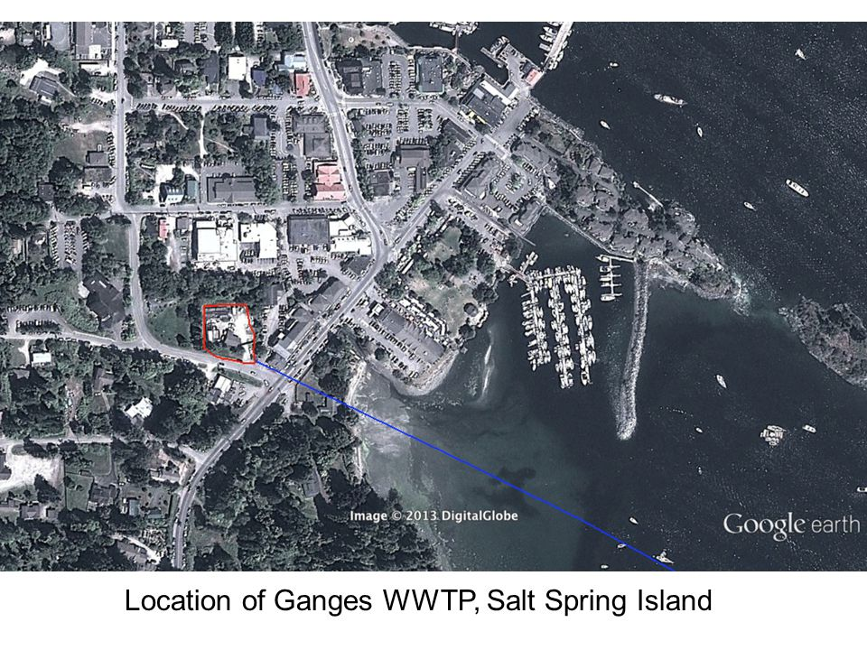 Location of Ganges WWTP, Salt Spring Island