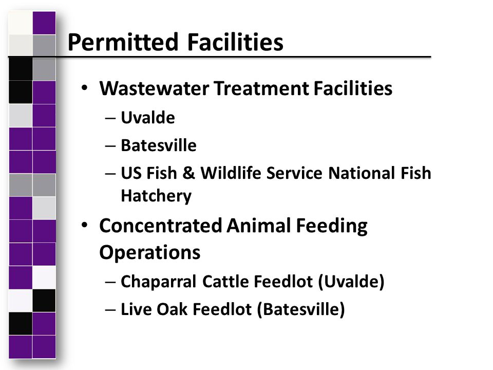 Wastewater Treatment Facilities – Uvalde – Batesville – US Fish & Wildlife Service National Fish Hatchery Concentrated Animal Feeding Operations – Cha