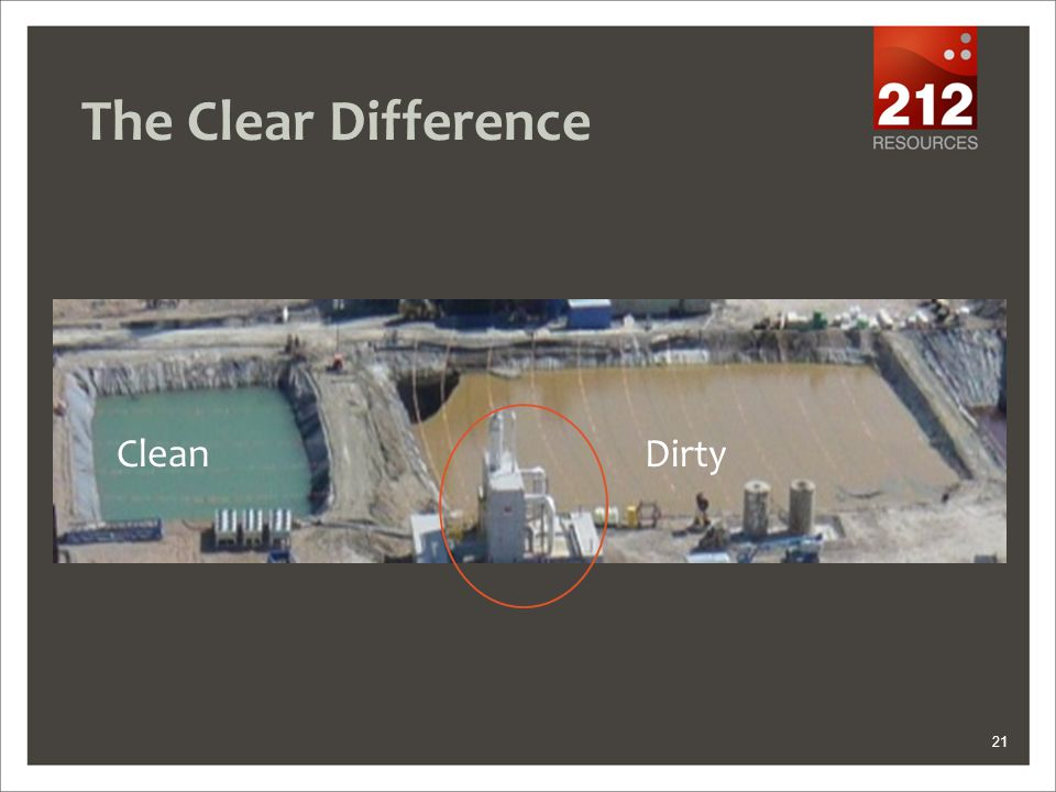 The Clear Difference 21 Clean Dirty