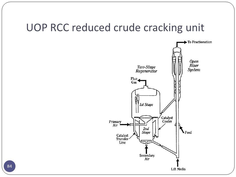 UOP RCC reduced crude cracking unit 84