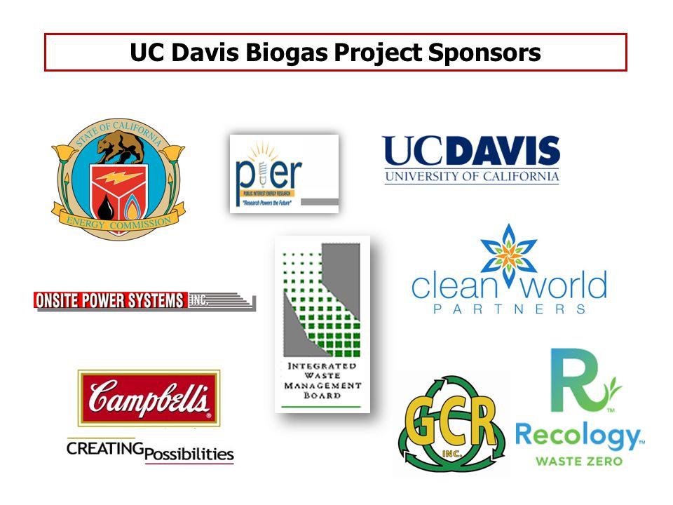 UC Davis Biogas Project Sponsors