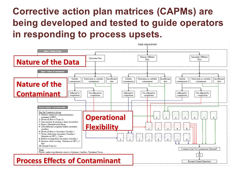 Corrective action plan matrices (CAPMs) are being developed and tested to guide operators in responding to process upsets. Nature of the Data Nature o