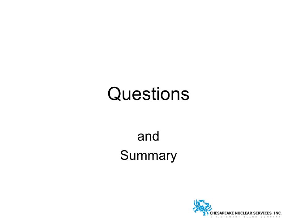 Questions and Summary
