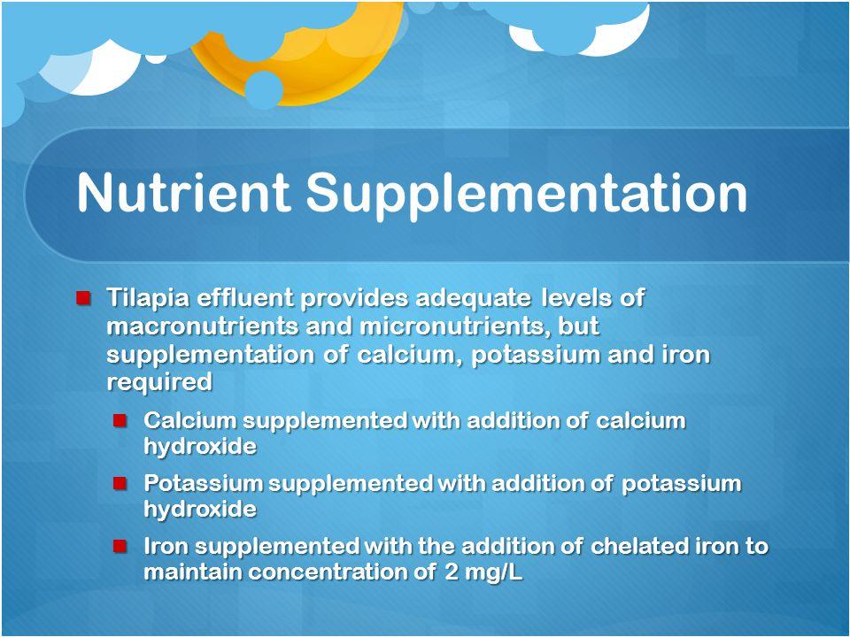 Nutrient concentration for Aquaponics vs. Hydroponics NutrientAquaponics (mg/L) Hydroponics (mg/L) Calcium10.0 – 82.0150.0 Magnesium 0.7 – 13.0 50.0 P