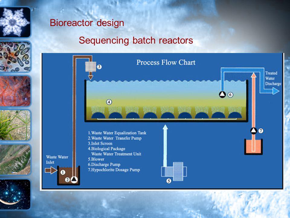 Bioreactor design Sequencing batch reactors