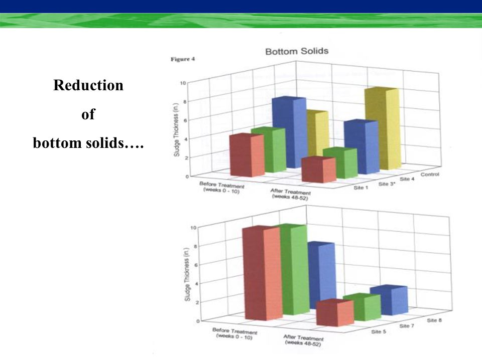 Reduces Pumping: BIOSOL Reduces Pumping: Treatment: l Reduces surface scum an average of 77% l Reduces bottom solids up to 40% Control Treated > 77% >40% Controlled Field Studies