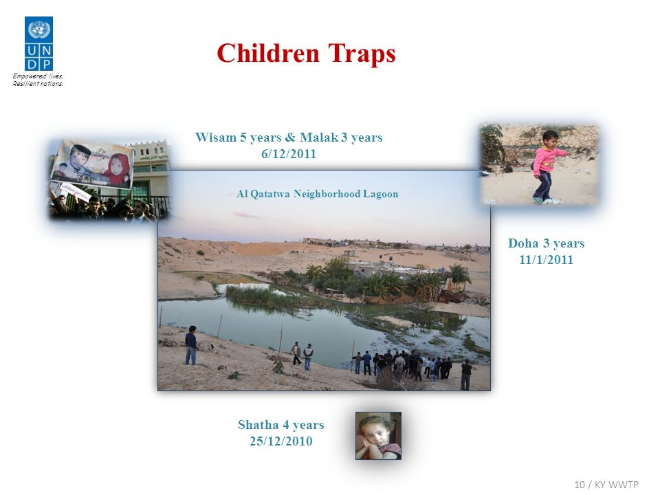 Children Traps Al Qatatwa Neighborhood Lagoon Doha 3 years 11/1/2011 Shatha 4 years 25/12/2010 Empowered lives. Resilient nations. Wisam 5 years & Mal