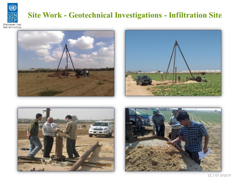 Site Work - Geotechnical Investigations - Infiltration Site Empowered lives.