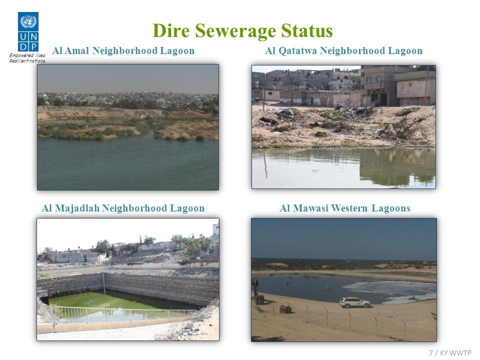 Al Qatatwa Neighborhood Lagoon Al Majadlah Neighborhood Lagoon Empowered lives. Resilient nations. 7 / KY WWTP Al Amal Neighborhood Lagoon Al Mawasi W