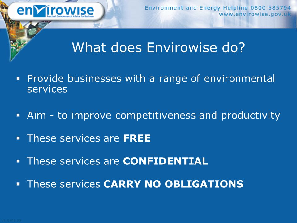 What does Envirowise do.
