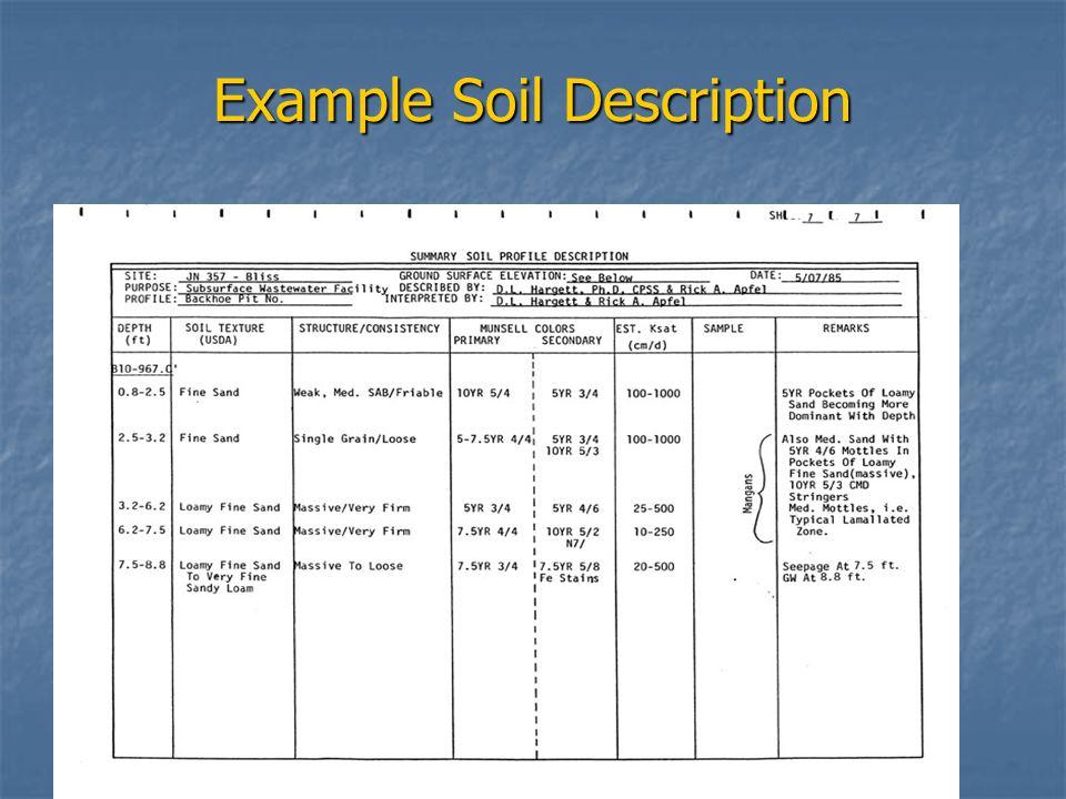 Example Soil Description
