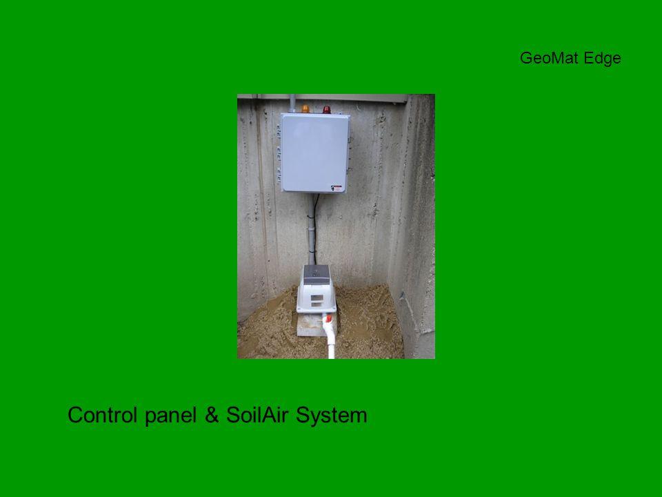 Control panel & SoilAir System GeoMat Edge