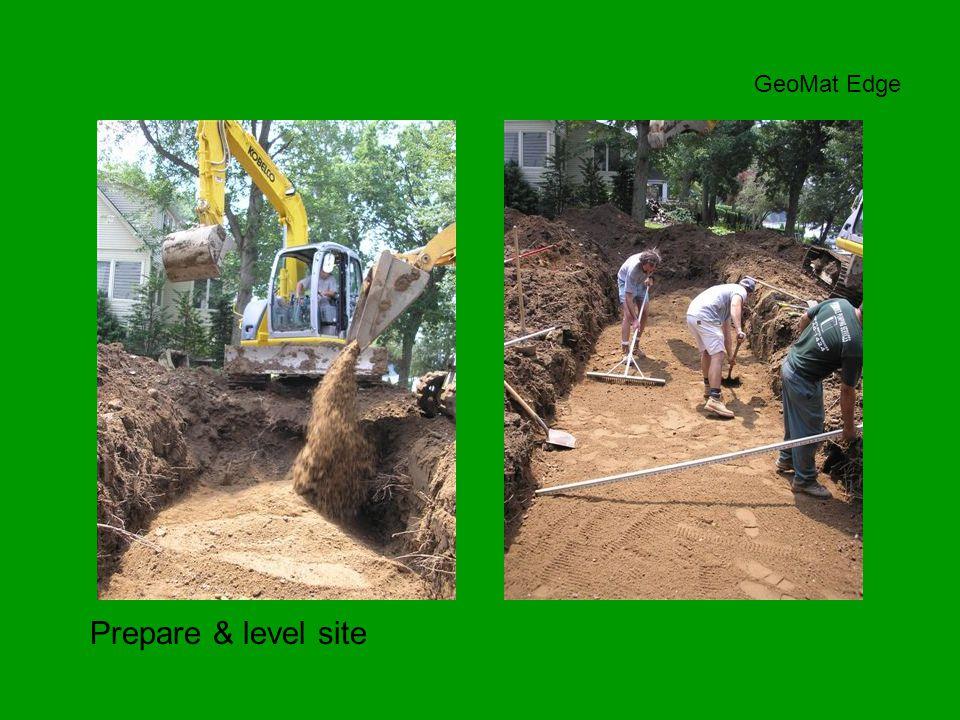 Prepare & level site GeoMat Edge