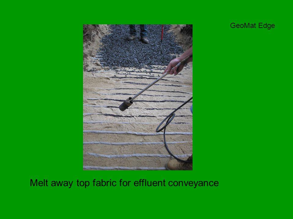 Melt away top fabric for effluent conveyance GeoMat Edge