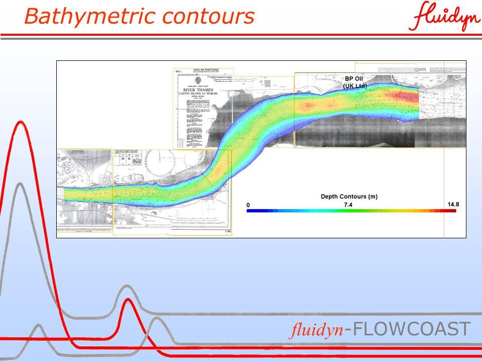 Bathymetric contours fluidyn -FLOWCOAST