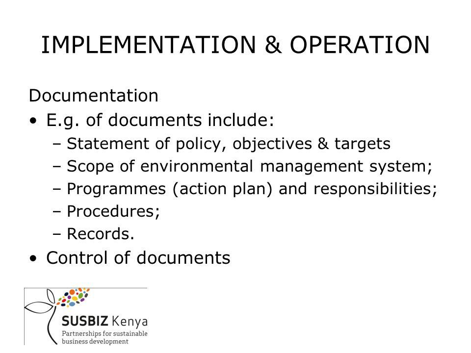 Documentation E.g.