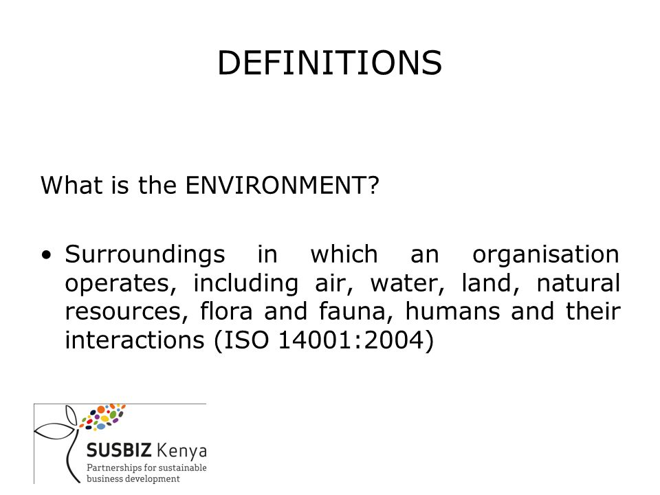DEFINITIONS What is a management system.