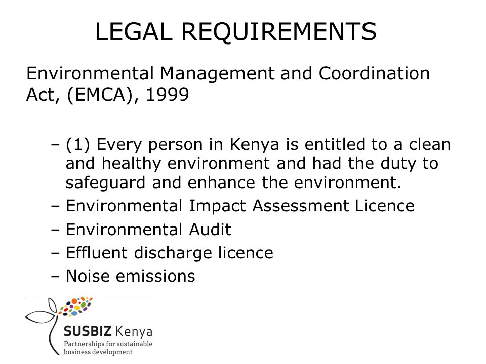ISO 14001:2004 EMS Requirements –Policy (framework); –Planning (key environmental aspects, objectives, legal requirements); –Implementation and operation (roles, resources, responsibility and authority, communication and documentation, operational control, emergency preparedness); –Checking (monitoring); –Management review.