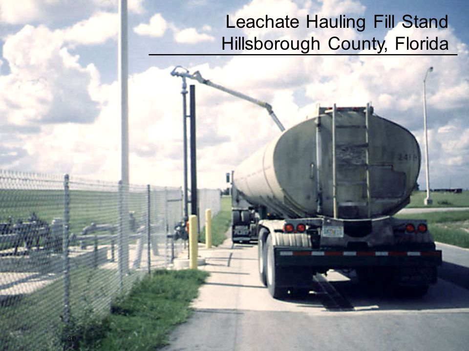 30 Leachate Hauling Fill Stand Hillsborough County, Florida