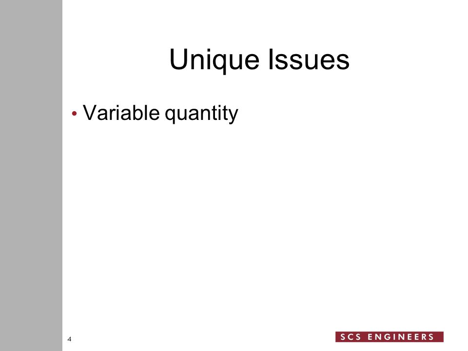 Unique Issues Variable quantity 4
