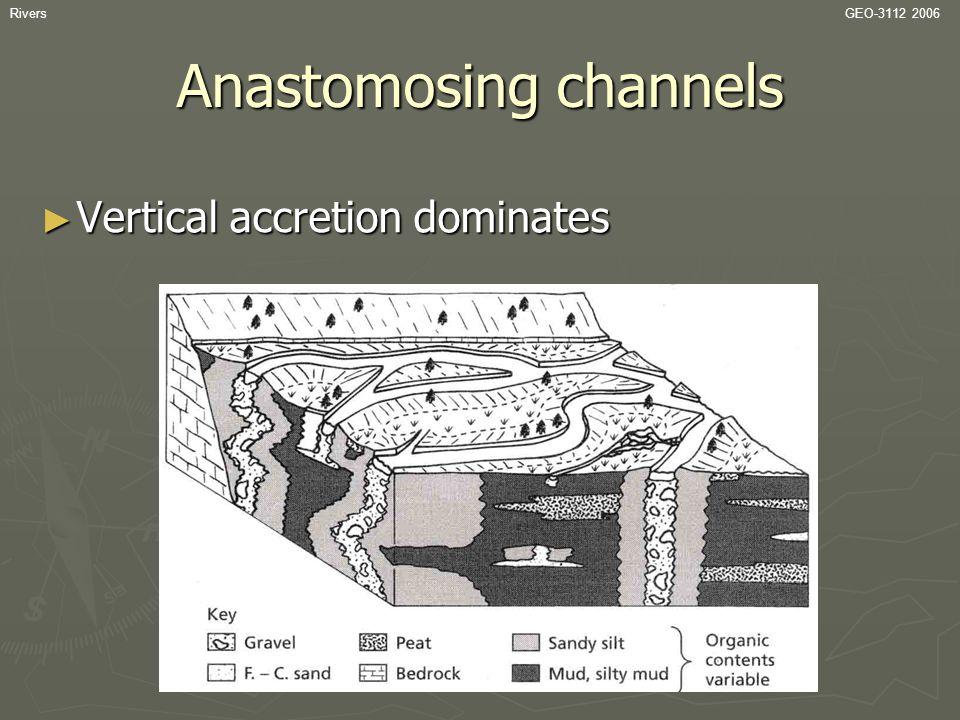 RiversGEO-3112 2006 Anastomosing channels ► Vertical accretion dominates