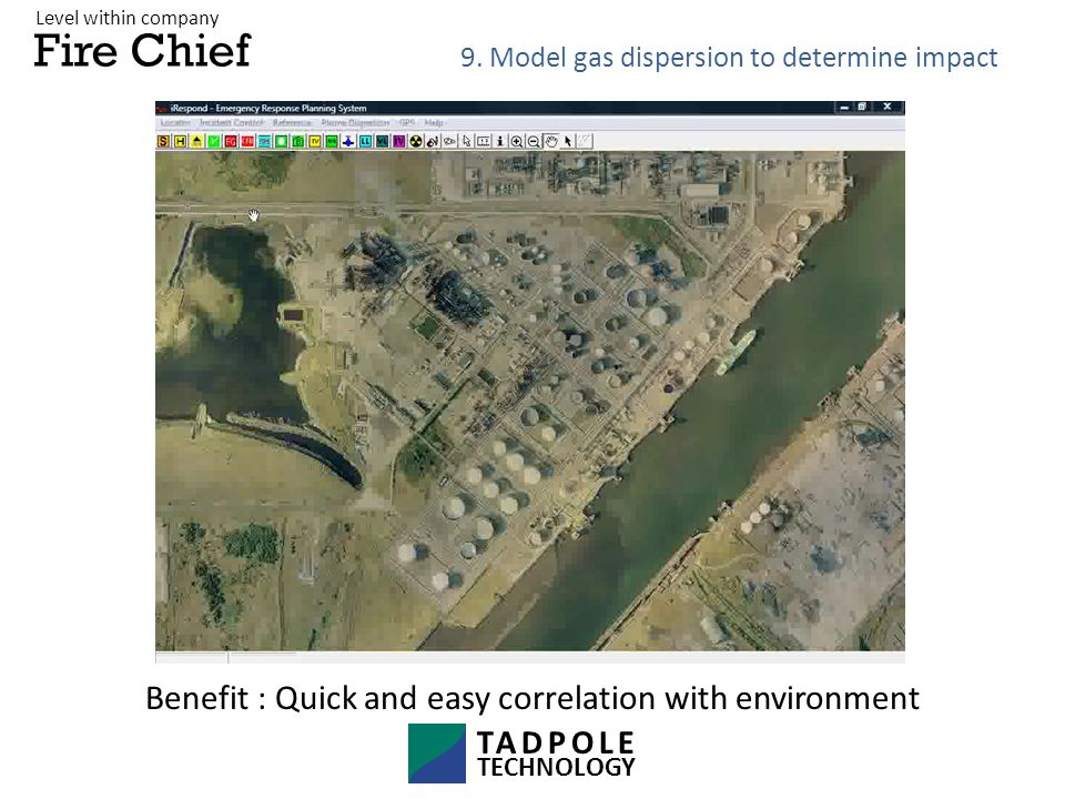 Fire Chief Benefit : Quick and easy correlation with environment 9.