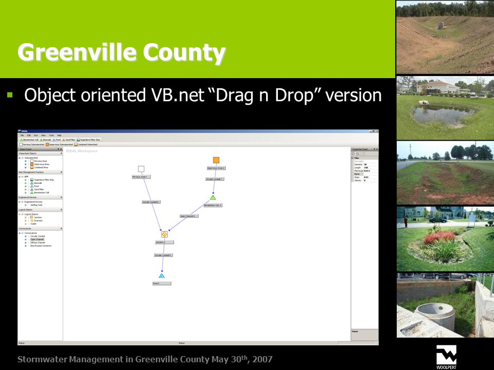 Stormwater Management in Greenville County May 30 th, 2007 Greenville County  Object oriented VB.net Drag n Drop version