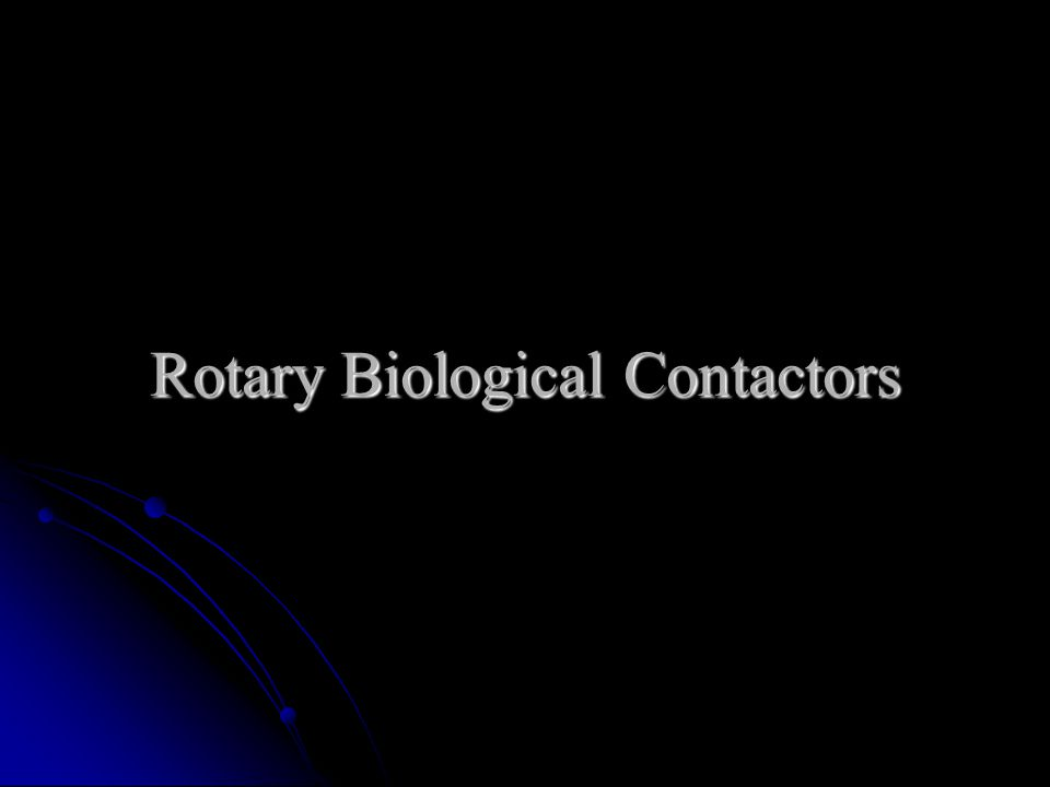 Rotary Biological Contactors