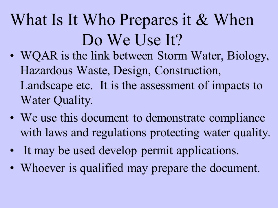 What Is It Who Prepares it & When Do We Use It.