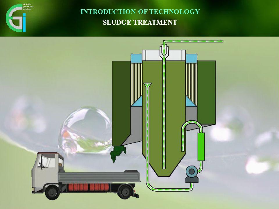 Inovativen pristop omogoča vidnemu okolju prijazno umestitev v prostor. SLUDGE TREATMENT INTRODUCTION OF TECHNOLOGY