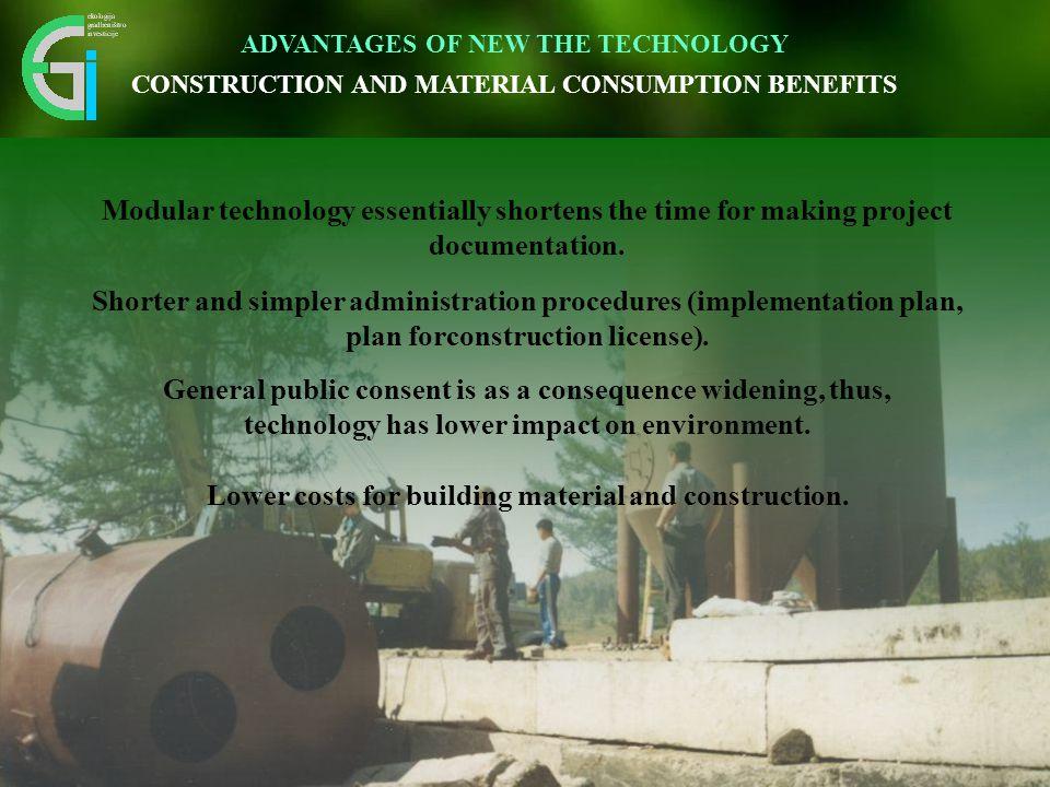 Čas izgradnje čistilne naprave se skrajša 3 – krat. Inovativen pristop omogoča vidnemu okolju prijazno umestitev v prostor. Modular technology essenti