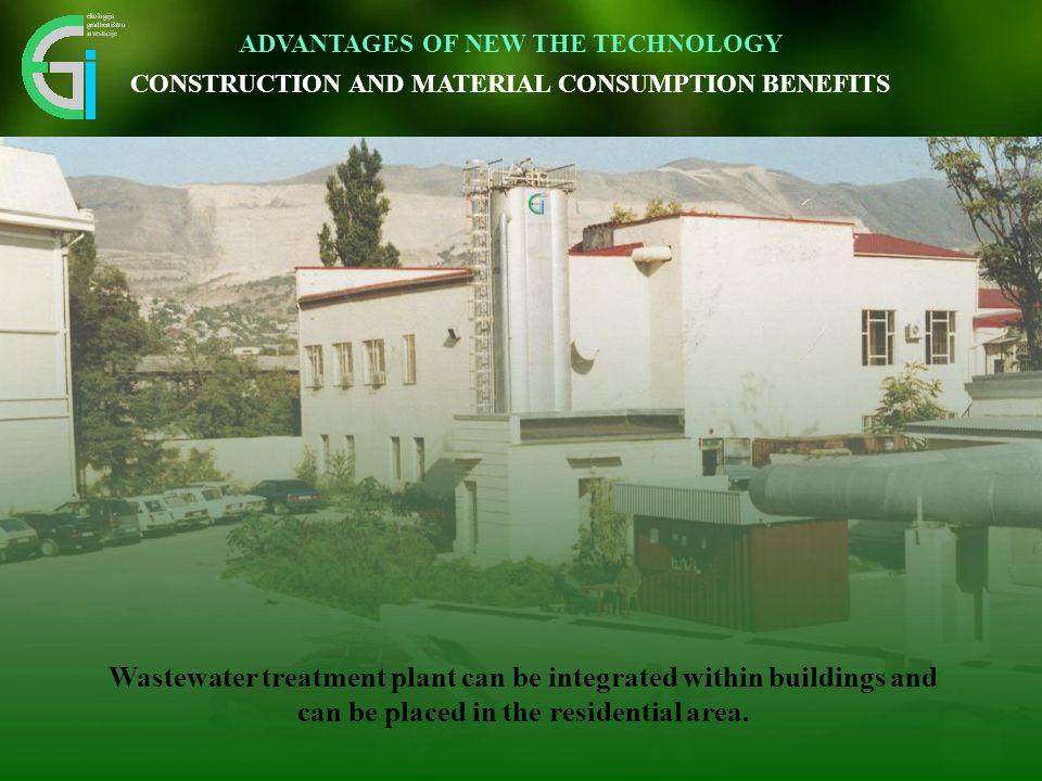 Inovativen pristop omogoča vidnemu okolju prijazno umestitev v prostor. Wastewater treatment plant can be integrated within buildings and can be place