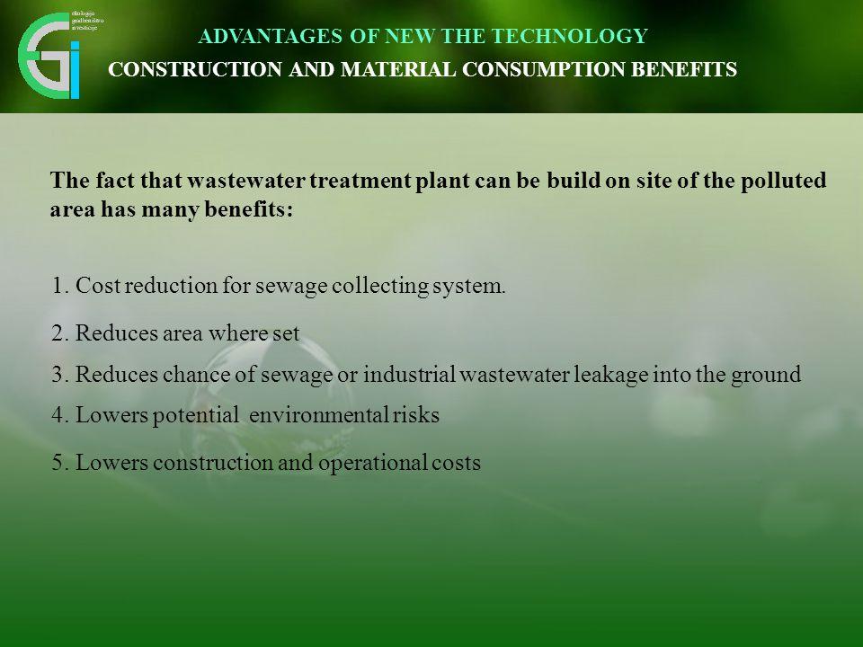Inovativen pristop omogoča vidnemu okolju prijazno umestitev v prostor. 1. Cost reduction for sewage collecting system. 2. Reduces area where set 3. R