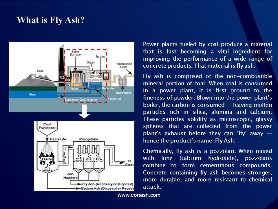 Why Fly Ash.Mechanically, fly ash also pays dividends for concrete production.