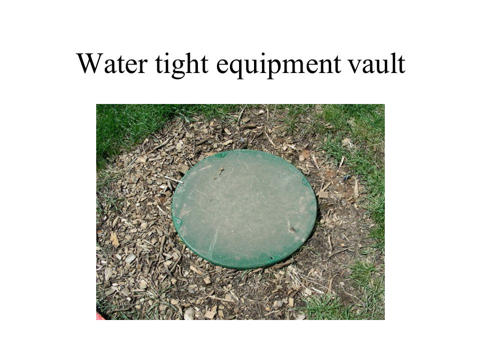 Water tight equipment vault