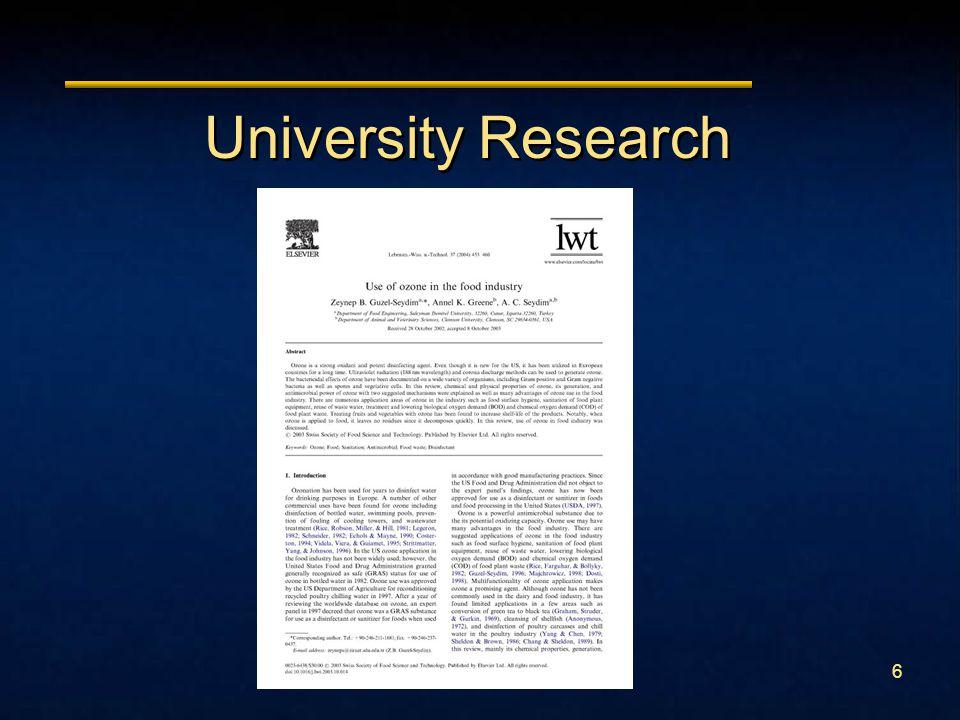 6 University Research