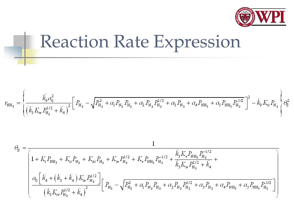 Reaction Rate Expression
